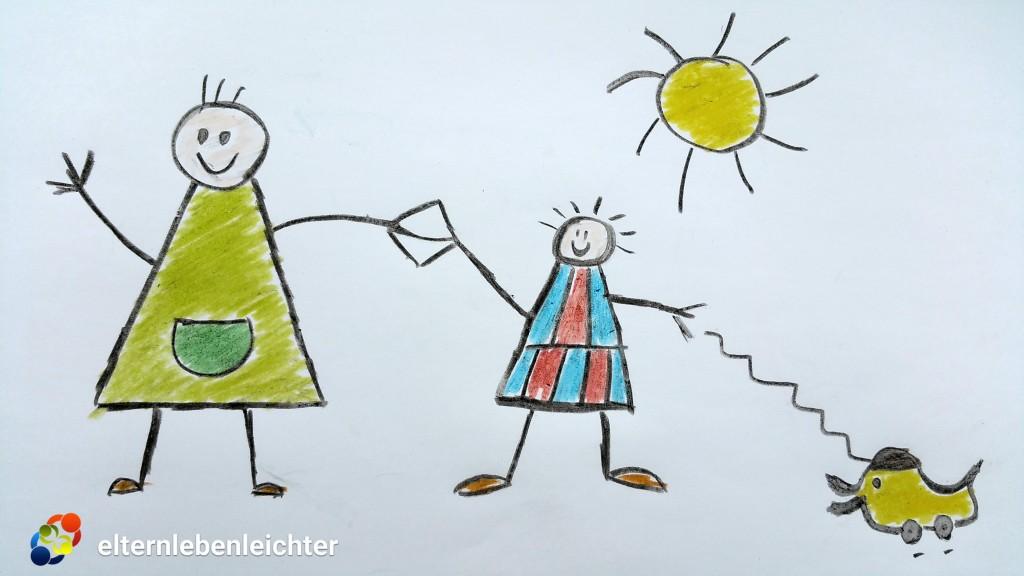 Richtiger Umgang bei Trennungsangst von Kindern.